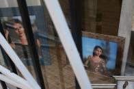 Escaparate de Luz&Raia con las fotos de la Reina y Damas 2015 de Valencia de Alcántara