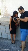 Realizando el trabajo fotográfico de exteriores